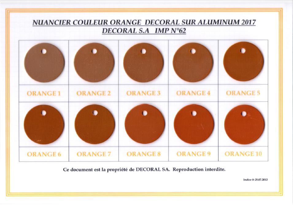 Nuancier orange