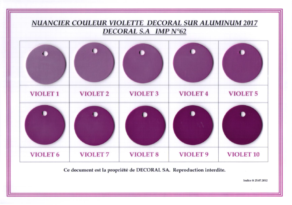 Nuancier violet